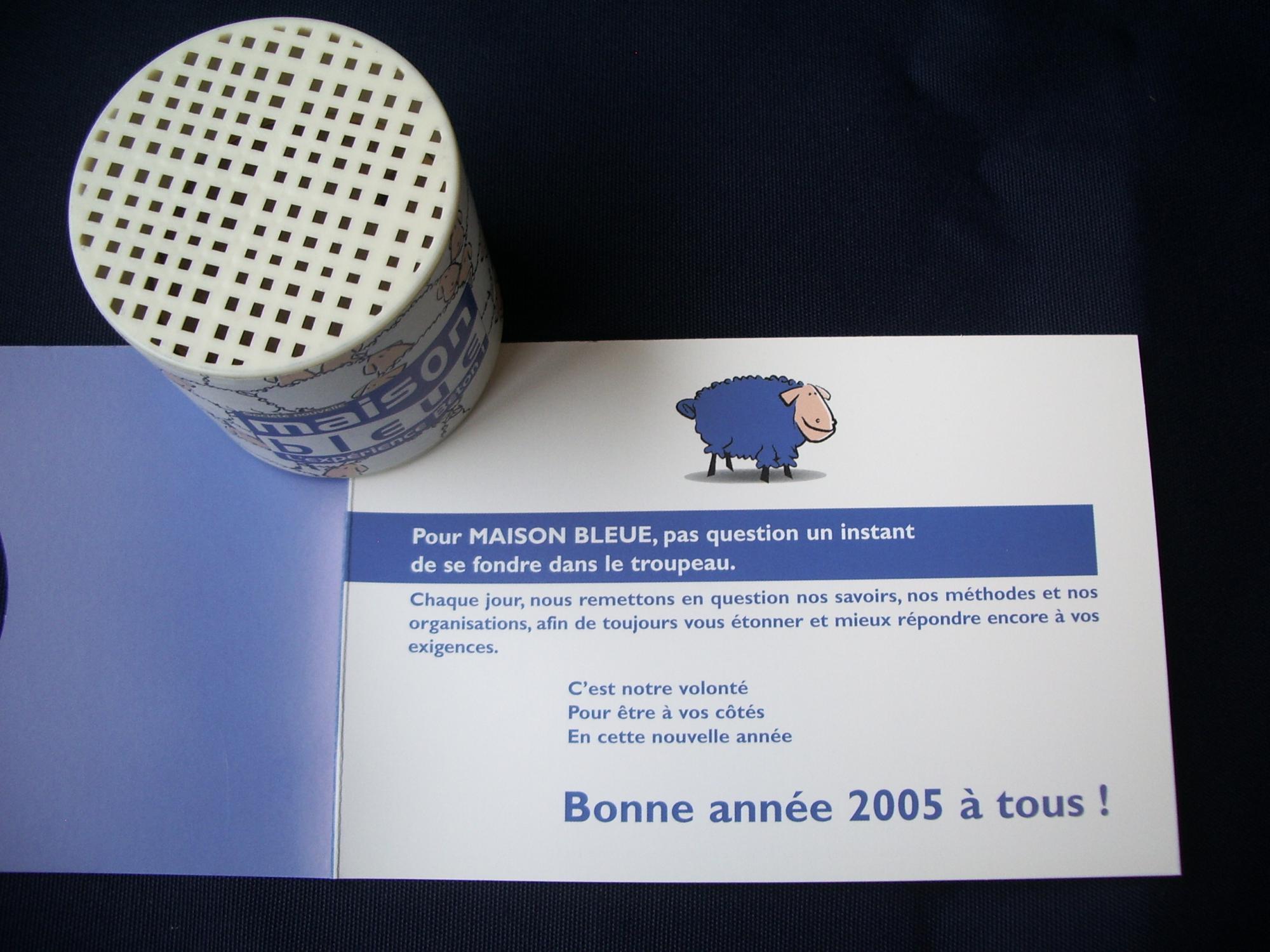 VOEUX MAISON BLEUE 2005